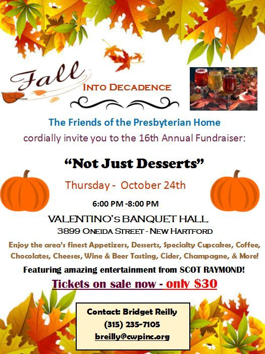 "Community Wellness Partners announce the 16th Annual ""Not Just Desserts"" Fundraiser - October 24th"